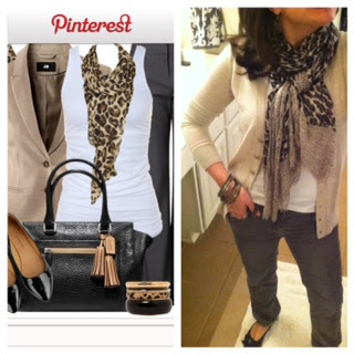 Leopard With Camel and Grey..and some CLOSET ORGANIZATION tips!