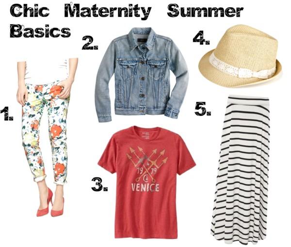Chic Maternity Summer Basics