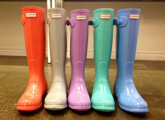 Love these colorful Hunter wellies coming in Spring 2013!