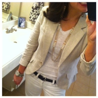 Sheaffer Told Me To April Pin-Spired:  Neutral Blazer Love