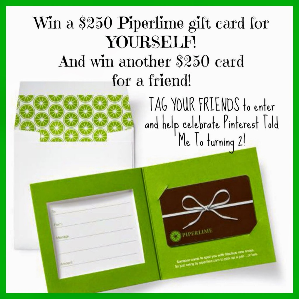 Sheaffer Told Me To Happy Birthday To US with PIPERLIME!!!!  $500 GIVEAWAY!