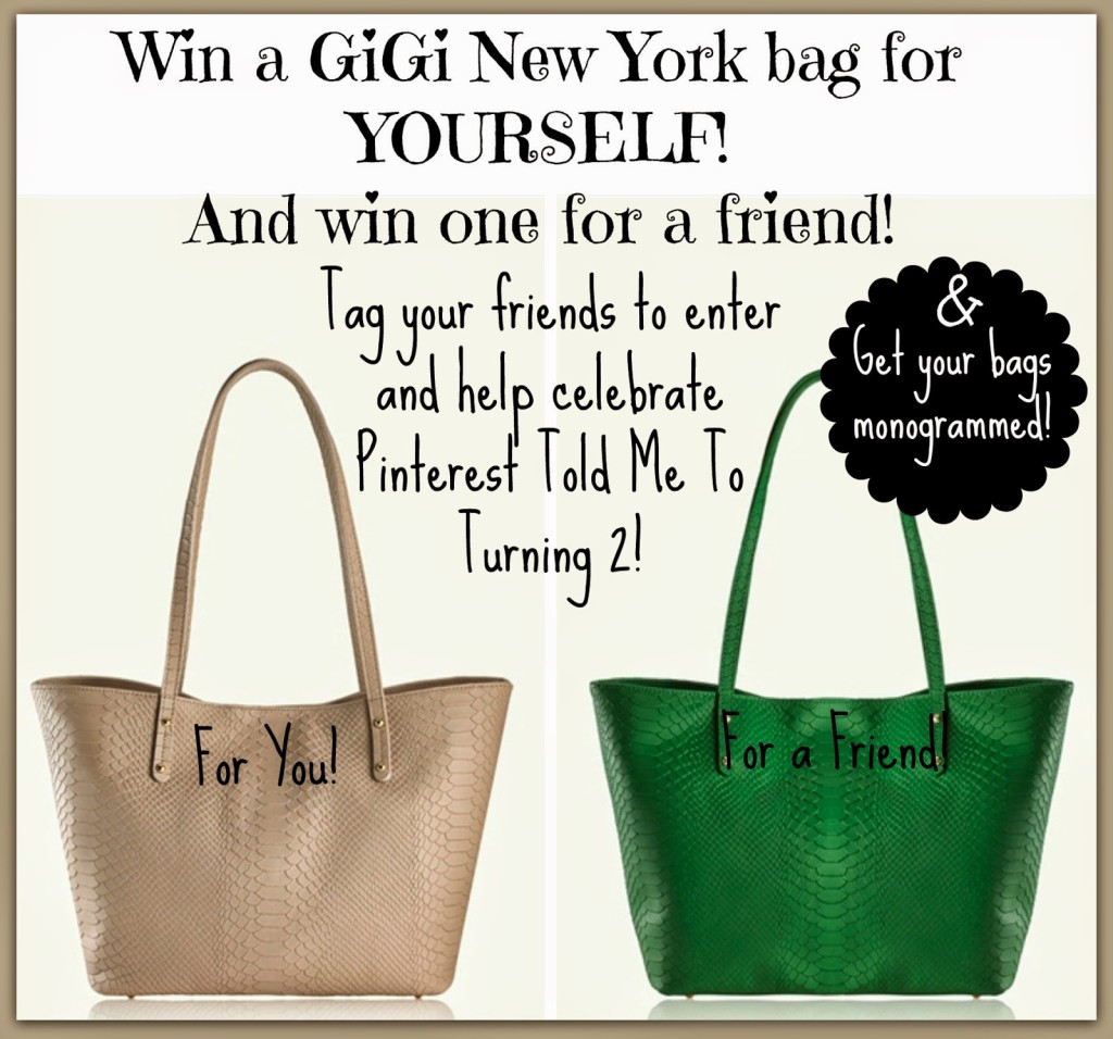 Sheaffer Told Me To Happy Birthday to US with GiGi New York!  Who wants a FREE BAG?!?