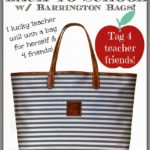 Back to School with Barrington Bags!!!  Let's Honor TEACHERS!!!!