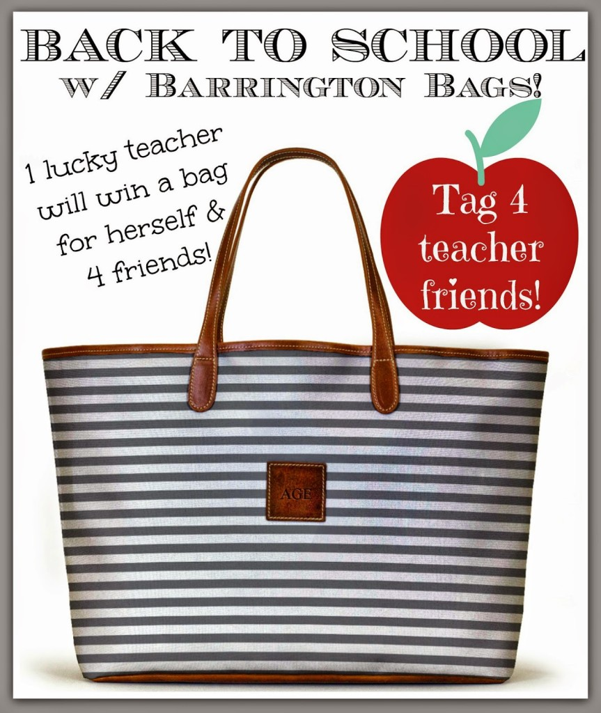 Sheaffer Told Me To Back to School with Barrington Bags!!!  Let's Honor TEACHERS!!!!