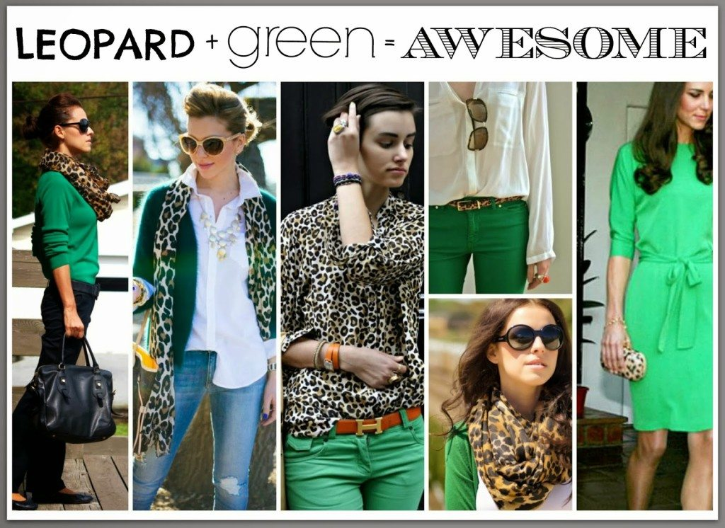 Leopard and Green….AND STRIPES!