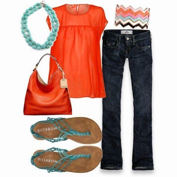 Orange, Leopard, and Turquoise.  Bam.