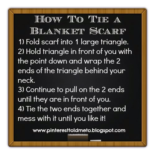 Sheaffer Told Me To HOW TO TIE A BLANKET SCARF!