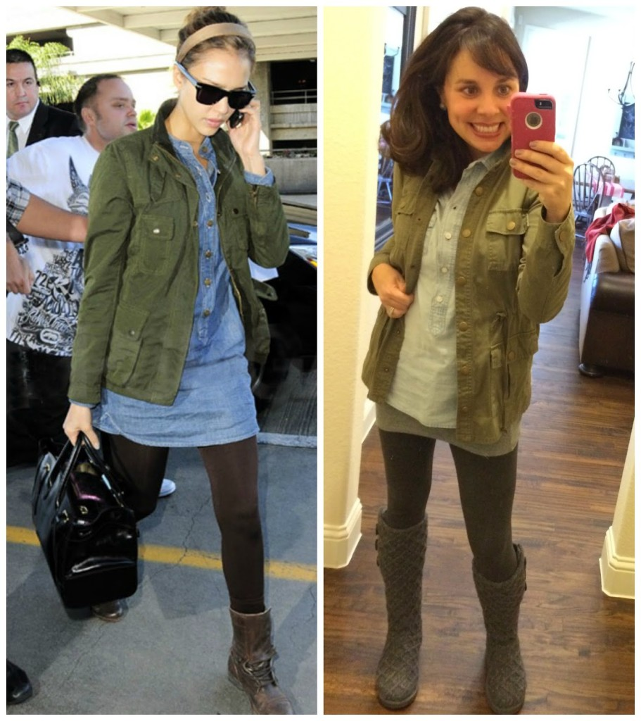 Sheaffer Told Me To Pinterest Told Me To Wear My Military Jacket w/ My Denim Shirt and Leggings!