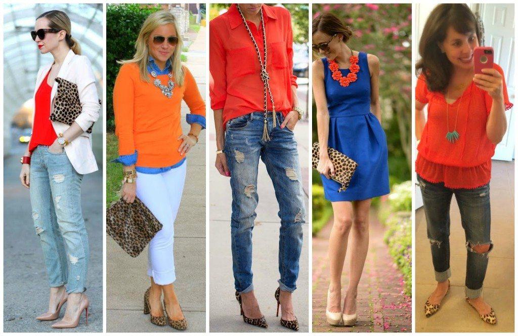Orange, Leopard, and Turquoise.  Wear It.