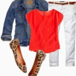 Pinterest Told Me To Wear Orange, White, Denim, and Leopard…….Pinterest is So Dang Smart.