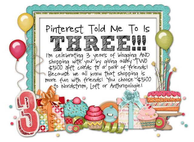 Sheaffer Told Me To Pinterest Told Me To is 3!!!