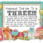 Pinterest Told Me To is 3!!!