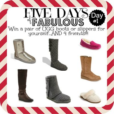 ugg giveaway five days of fabulous day 1 ugg 174 giveaway and cyber 5860