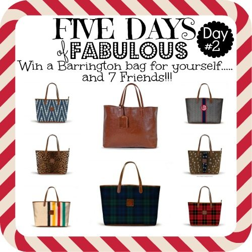 Five Days of Fabulous Day#2 with BARRINGTON BAGS!