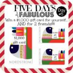 Five Days of Fabulous Day #5:  Sunglasses and a HUGE Nordstrom Giveaway!