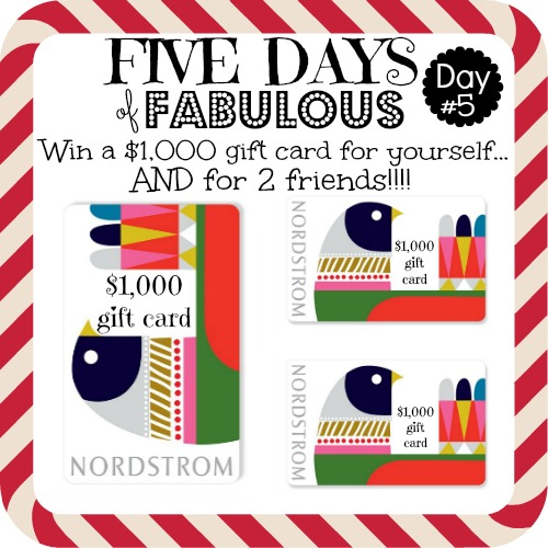Sheaffer Told Me To Five Days of Fabulous Day #5:  Sunglasses and a HUGE Nordstrom Giveaway!