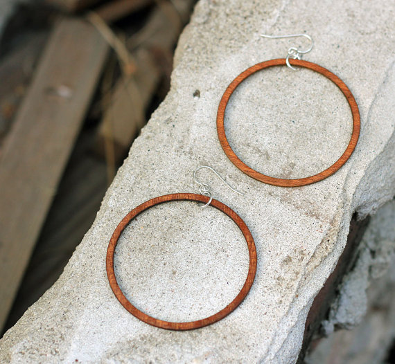 Beach Party Hoops // Earrings made from RECLAIMED WOOD // Spotted on...