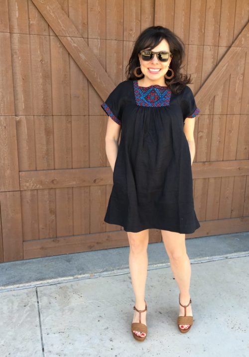 madewell embroidered dress