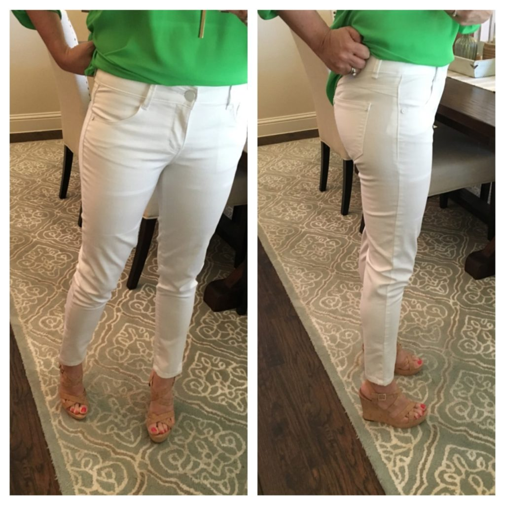 best white jeans and best cork wedges