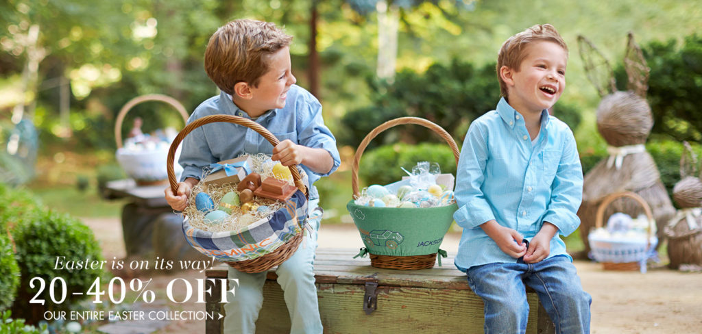 pottery barn easter basket