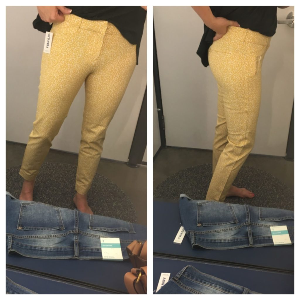 mustard ankle pants