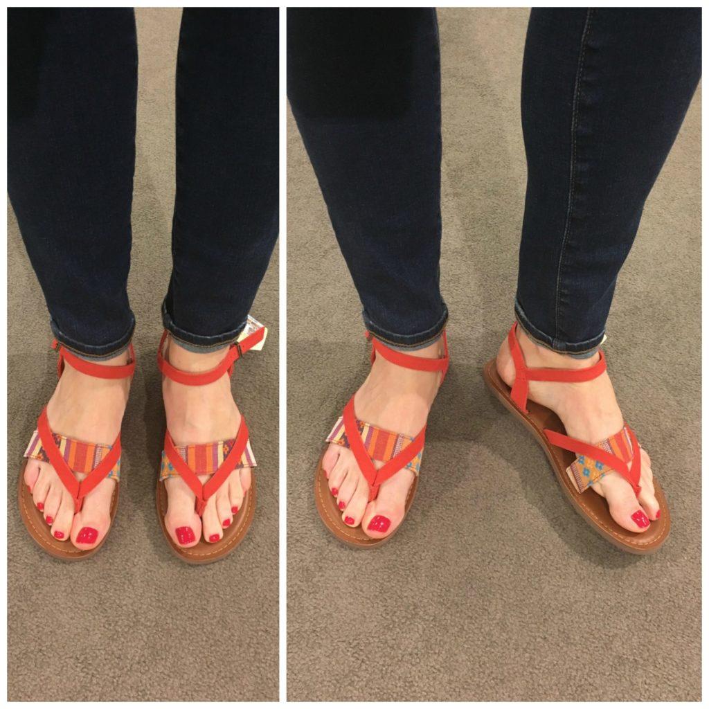 toms orange sandals