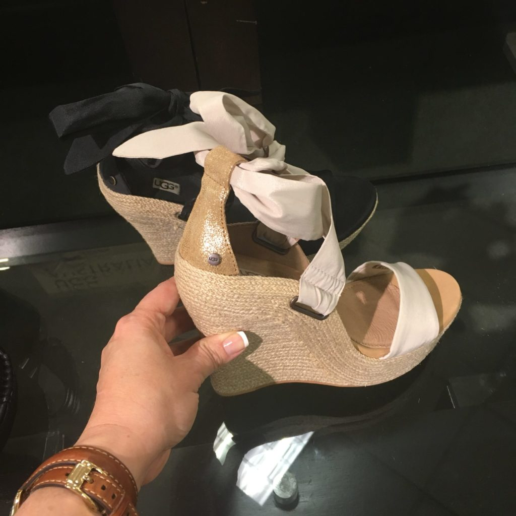 cream ugg ribbon wedge