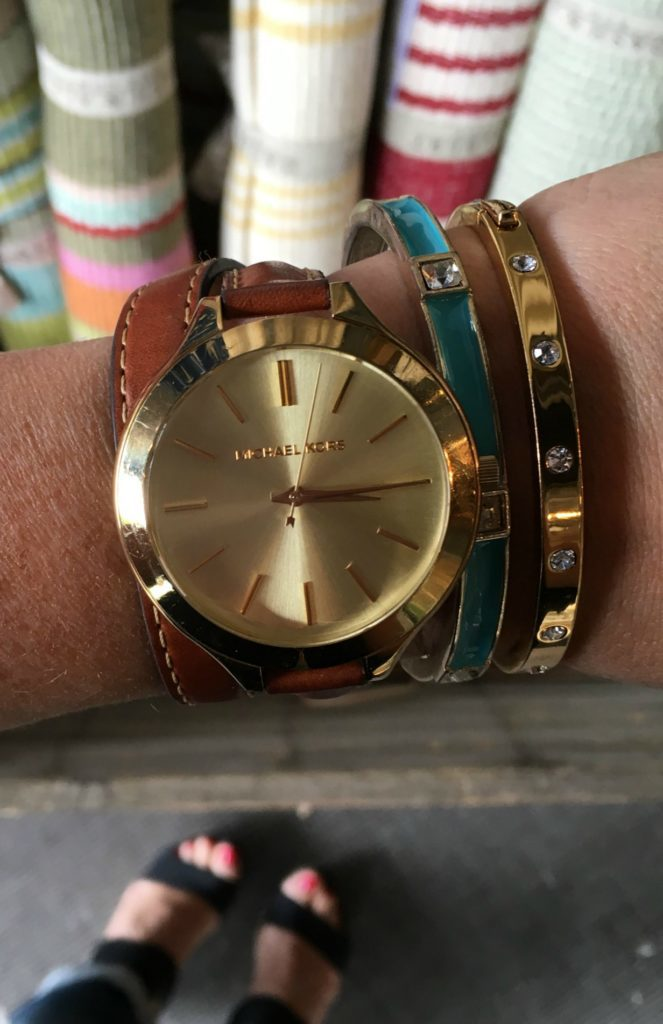 michael kors watch and kate spade bracelet