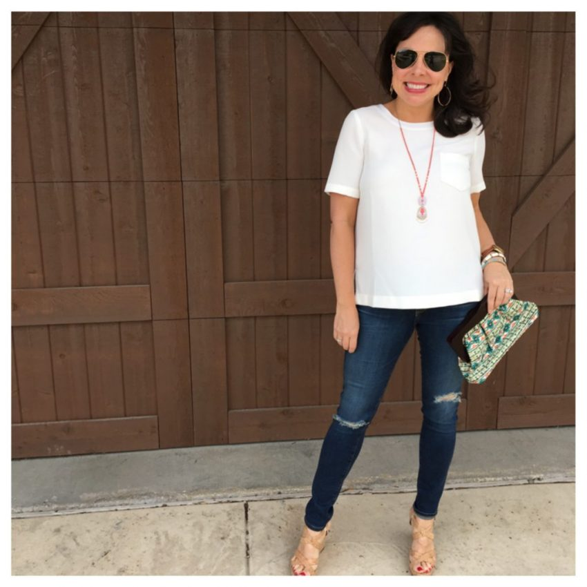 white madewell top