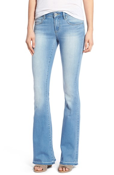 light wash flare jeans