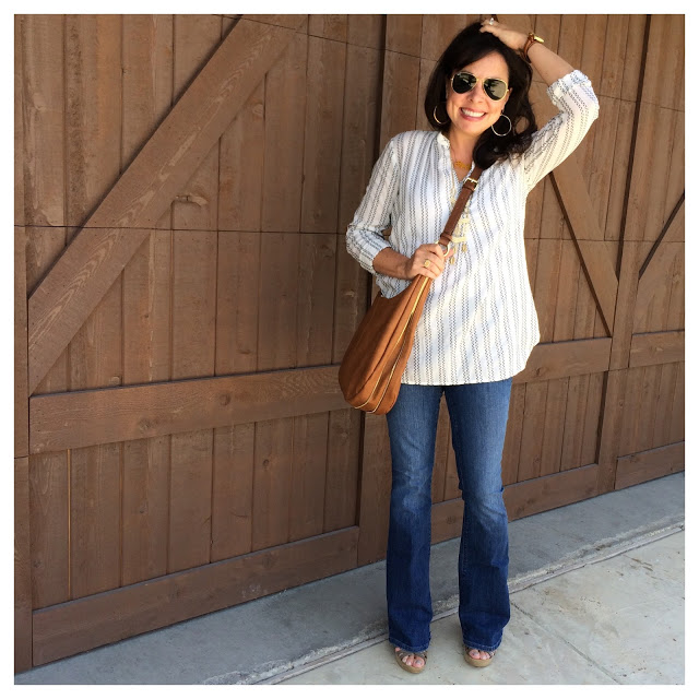 flare jeans and popover