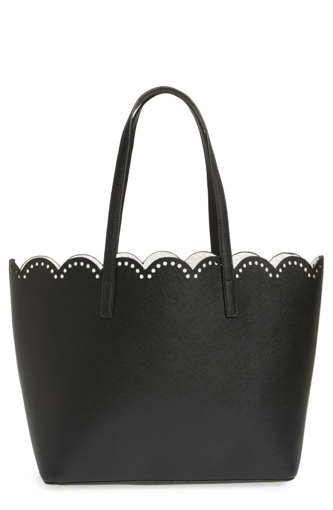scalloped tote