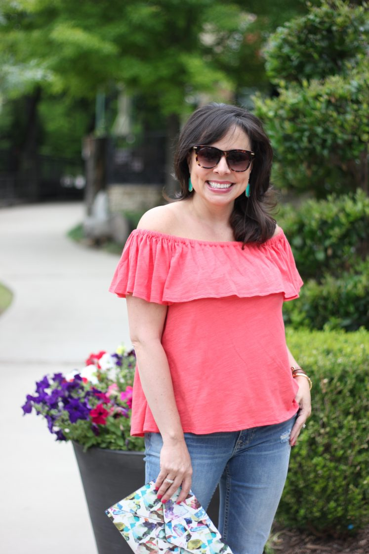 rebecca minkoff off the shoulder top