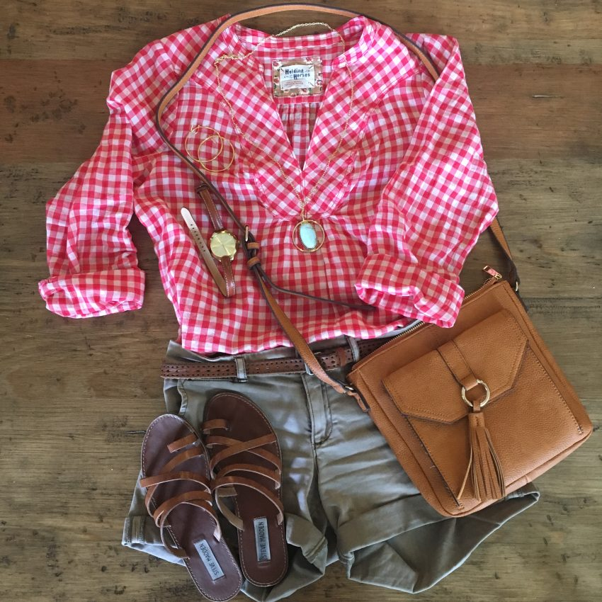gingham popover and picro shorts
