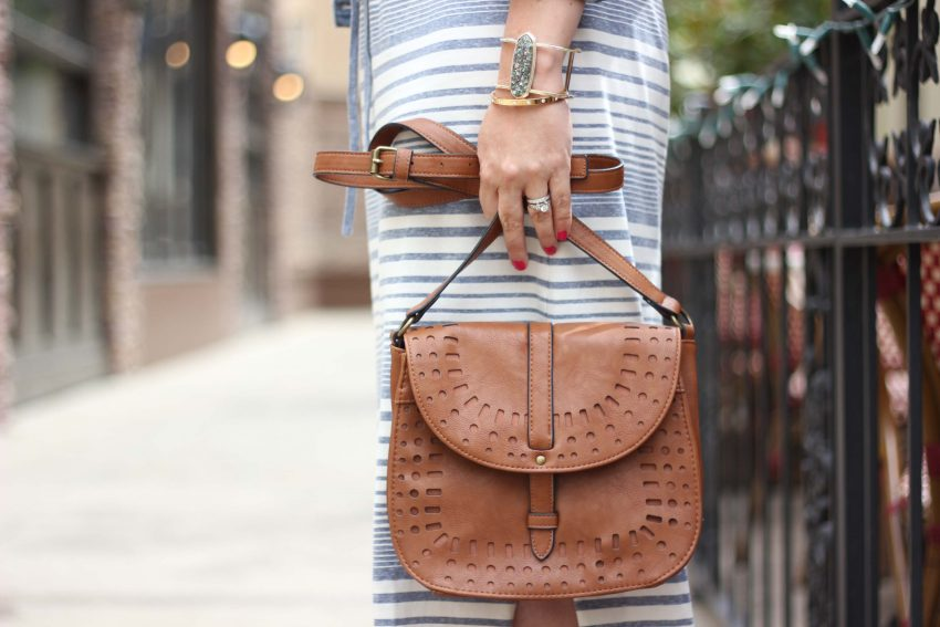 cognac cross body