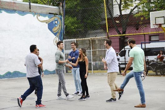 jojo playing soccer in buenos aires