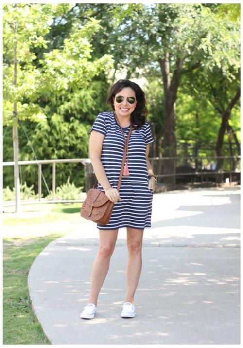 shoreline converse and striped dress
