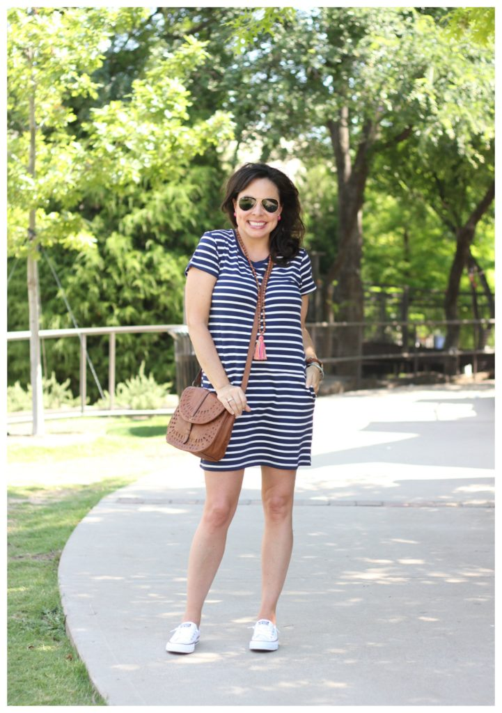 shoreline converse and striped dress