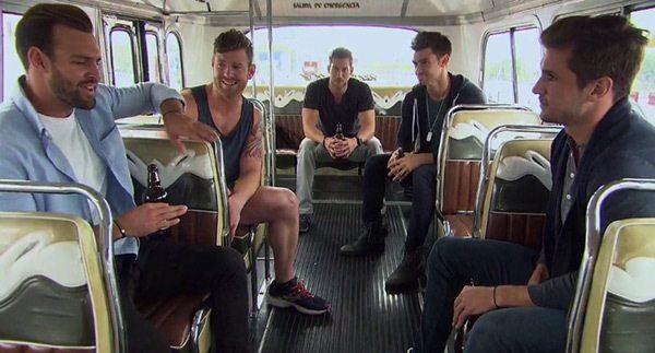 bachelor boys rapping on bus