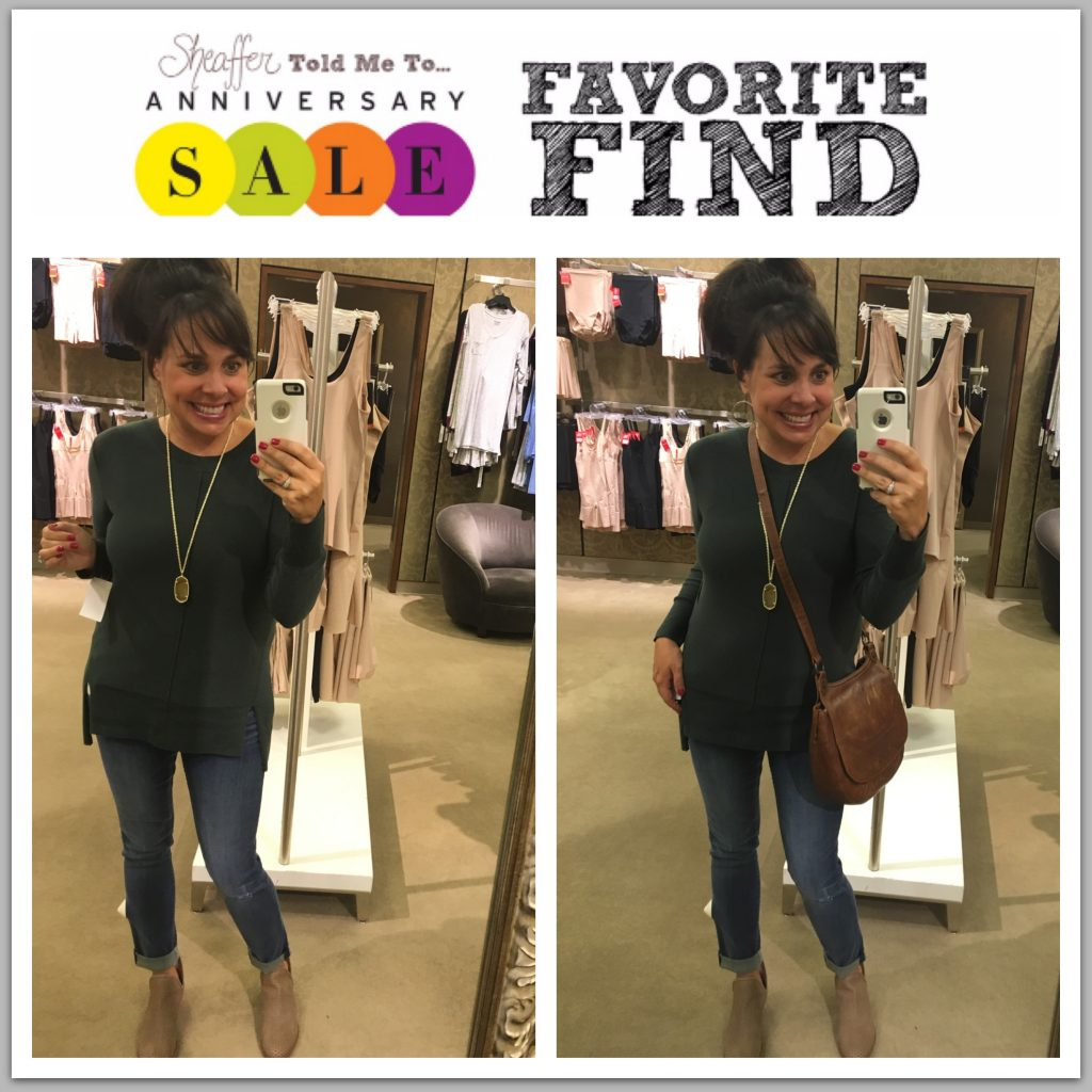 Nordstrom Anniversary Sale sweater and frye bag