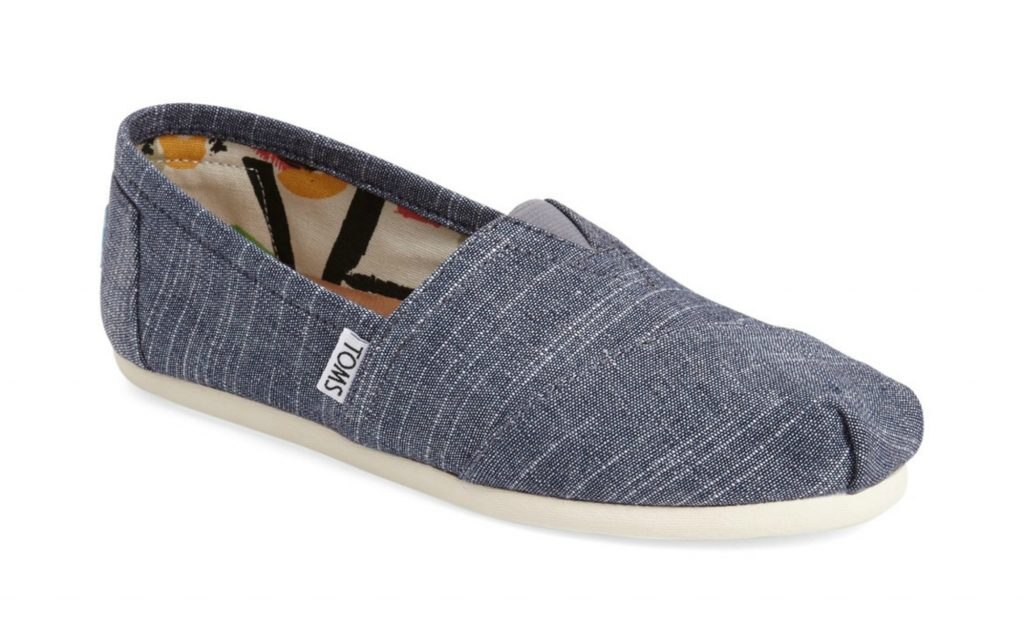 toms chambray slip ons
