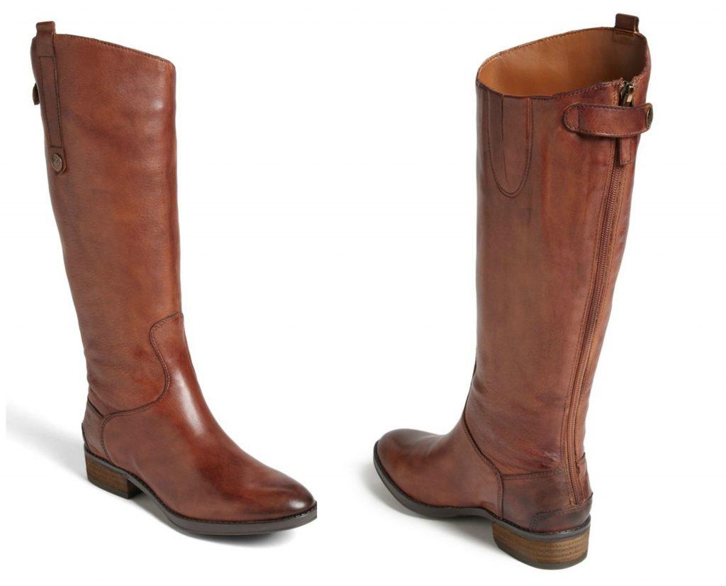 cognac penny boots