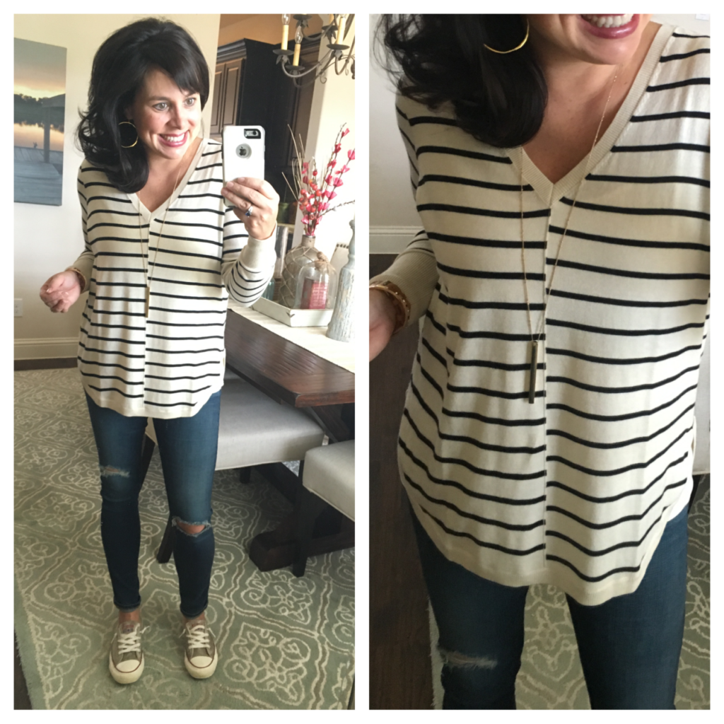 Sheaffer Told Me To 1 Great Striped Sweater, Styled 4 Ways