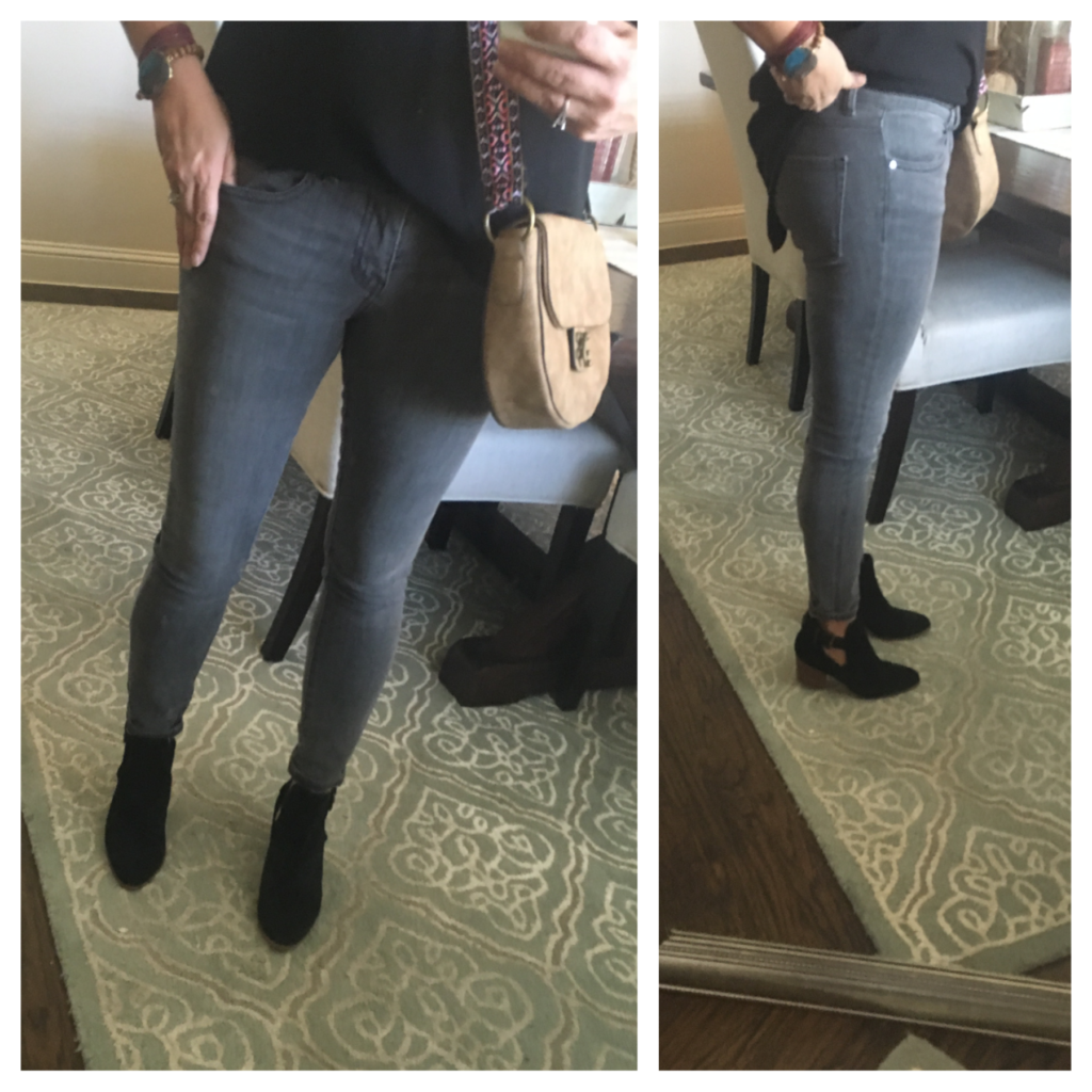 grey skinny ankle jeans