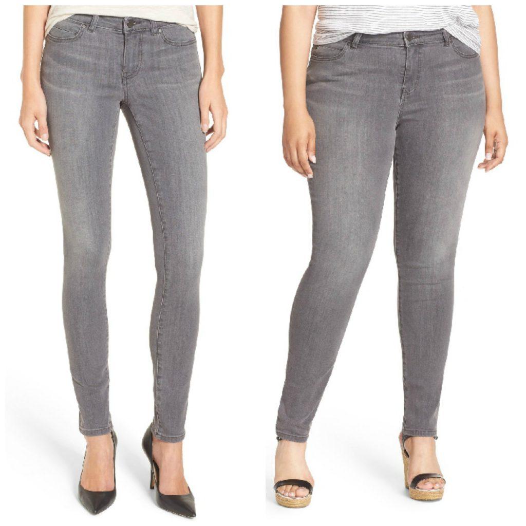 plus size grey skinny jeans