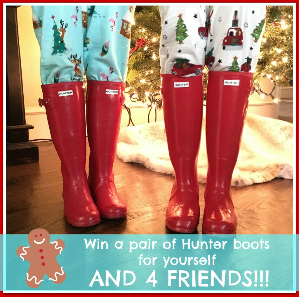 Sheaffer Told Me To 5 Days of Fabulous Day #3:  HUNTER BOOTS FOR YOU AND 4 FRIENDS!!!