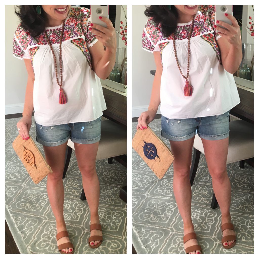 Sheaffer Told Me To FRIDAY FAVORITES: DENIM SHORTS REVIEW AND DARLING EMBOIDERED TOP