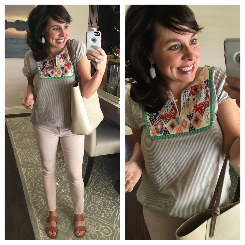 Sheaffer Told Me To Friday Favorites:  EYELET, SWIMSUITS, FRINGE SANDALS, A GREAT TEE, and BLUSH JEANS