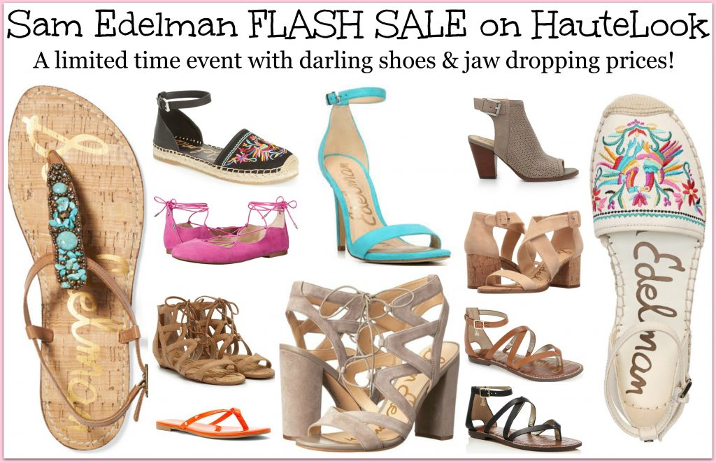 Sheaffer Told Me To Sam Edelman FLASH EVENT!