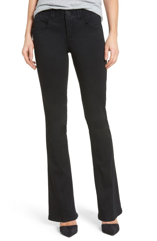 nordstrom anniversary sale, black jeans, boot cut, wit and wisdom